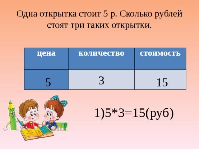 Картинки, одна открытка стоит 6 рублей вторая в 3 раза
