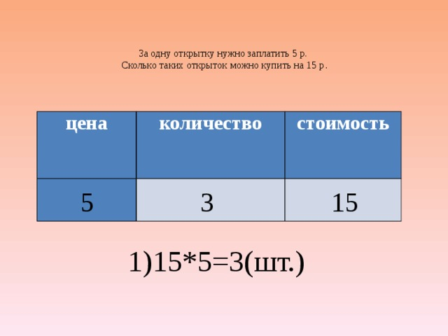 За 5 одинаковых по цене открыток заплатили 60 рублей сколько